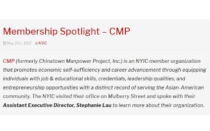 Membership Spotlight – CMP